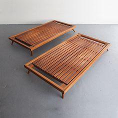 Joaquim Tenreiro; Caviona Bed Platforms, 1950s.