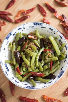 Sichuan Dry-Fried Green Beans (Vegetarian) - Gan Bian Si Ji (Su) - Feeding Fen Image 4
