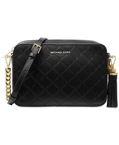 99369dc6a02b Michael Kors Chain Embossed Leather Camera Bag - Handbags & Accessories  - Macy's Leather Camera