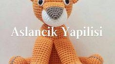 Amigurumi Aslancık Yapılışı Hello Kitty, Dinosaur Stuffed Animal, Crochet Hats, Pikachu, Google, Youtube, Amigurumi Doll, Crochet Dolls, Knitting Hats
