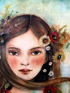 Original  art, Olivia. by claudiatremblay on Etsy