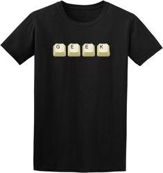 43b35024a Geek t shirt - computer geek gift , geek tee , geeky clothing , keyboard ,