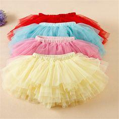 Kids tutu skirts factory directly children tutu rainbow baby girls tutu skirt
