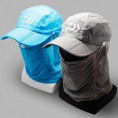 2017 NEW DAIWA Fishing cap Cover the face hat sun DW-W6688 man Sunscreen  summer outdoors Anti mosquito DAWA DAIWAS Free shipping free shipping  worldwide 02091aa24423
