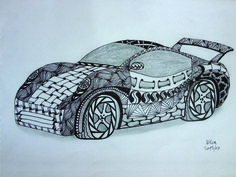 Zentangle car