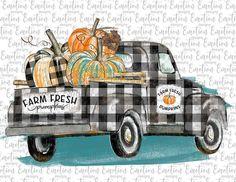 Items similar to Plaid Pumpkins Truck Vintage Halloween, Fall Halloween, Fall Wallpaper, Iphone Wallpaper, Emotion, Truck Design, Dog Design, Vintage Yellow, Happy Fall