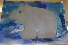 ijsbeer verven en plakken