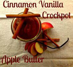 Cinnamon Vanilla Crockpot Apple Butter- Happy Healthnut