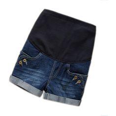 Button Jean Maternity Shorts  #maternityclothing #babybump #momtobe #pregnancy #fashion #motherhood #summer #socute #shopnow #gorgeous