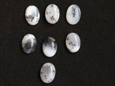 7Pcs  35Cts. 100% Natural Dendrite Agate Oval Cabochon 14x10mm Jewelry Making Dendrite opal Genuine Loose Gemstone Smooth Cut Polish Stone by zakariyagems on Etsy