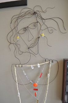 Sophie  wire sculpture/jewelry display by ParkvilleArt on Etsy