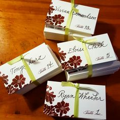 Escort Cards #fancyscript {Calligraphy by Carrie}