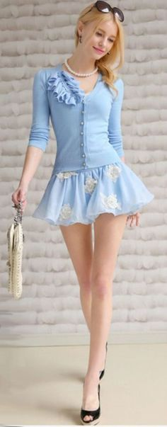 Awesome Korean top dresses 40 Cute And Sexy Skirts To Wear In Summer 2016 - Fashion 2016... Check more at