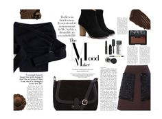 """brown and black"" by juliehalloran ❤ liked on Polyvore featuring Marni, Chicwish, Burberry, Bobbi Brown Cosmetics, NARS Cosmetics, women's clothing, women's fashion, women, female and woman"