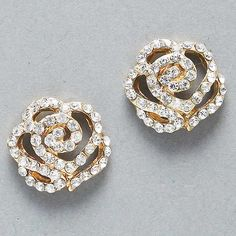 Crystal Rose Earrings on Emma Stine Limited