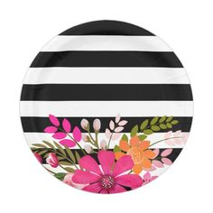 Choose from a variety of Flower paper plates for any occasion on Zazzle. Discover our amazing selection of custom paper plates today. Arte Latina, Wedding Plates, Floral Logo, Plate Design, Cd Design, Wedding Matches, Paper Plates, Folklore, Vintage Floral