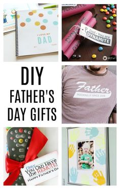 DIY Father's Day Gifts! It's always so hard to show Dad how much he is loved - here are 5 great ideas!