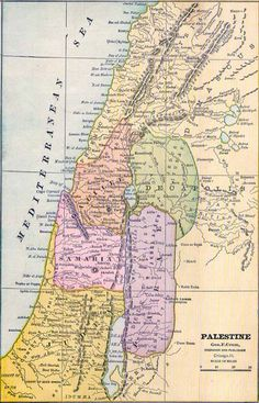 Palestine in 1886 map