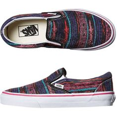 Vans Womens Classic Slip On Van Doren Shoe ($22) ❤ liked on Polyvore featuring shoes, black tribal desert, kohl shoes, tribal pattern shoes, sport shoes, print shoes and tribal shoes