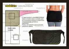 Pattern Draft: Tapa Bumbum- The slap butt, tied the waist makes the woman more comfortable to move around during the exercises provided comfort and security. It has a pocket to accommodate small items. Sewing Patterns Free, Clothing Patterns, Sewing Clothes, Diy Clothes, Tapas, Sara Fashion, Modelista, Small Sewing Projects, Pattern Drafting