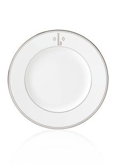 Lenox  Federal Platinum Block Monogram L Dinner Plate - White - One Size