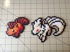 Pokemon Bead Sprite Set  Vulpix Family by ToughTurtles on Etsy, $5.50
