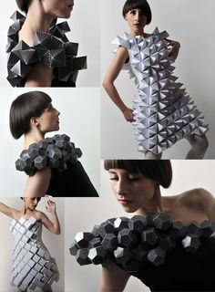 Ffion - textile ideas, influences and inspirations: Origami Fashion