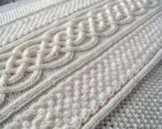 Celtic blanket knitting pattern celtic cable design Celtic Aran Afghan irish knit