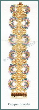 Beautiful peyote tutorial from bead patterns by jaycee