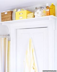 "See the ""Install a Toiletry Shelf"" in our Save Space in Bathrooms and Laundry Rooms gallery - Martha Stewart"