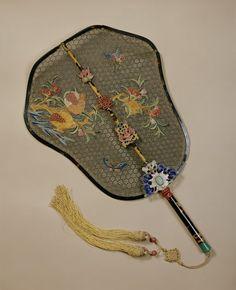 fashions from history:  Fan 19th Century China  Seems like a wedding gift.