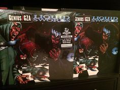 """GZA - """"Liquid Swords"""" (Newbury Comics red/blue limited to 1000 and RSD 2013 """"Chess Box"""" limited to 750). Greatest of all time. #vinyl #vinyligclub #wutang #hiphop #coloredvinyl #records #vinylcollection #vinyljunkie #instavinyl by directions_in_music"""