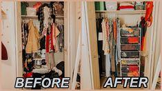 CLOSET TOUR + Organizing My Very SMALL Closet 2018 | Marla Catherine - YouTube
