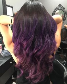 cool 45 Cool Purple Ombre Hair Ideas -- Trendy Contemporary Styling