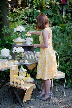 lemon dessert table