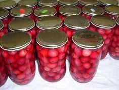 sterilování třešní a dalšího ovoce, marmelády atd.