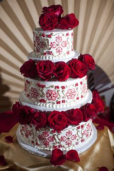 Grandioso Spanish (Spain) themed wedding cake with roses. We wanted something that looked . Spanish (Spain) themed wedding cake with. Quinceanera Planning, Quinceanera Decorations, Quinceanera Themes, Quinceanera Dresses, Wedding Cake Roses, Themed Wedding Cakes, Beautiful Wedding Cakes, Wedding Flowers, Quince Dresses Mexican