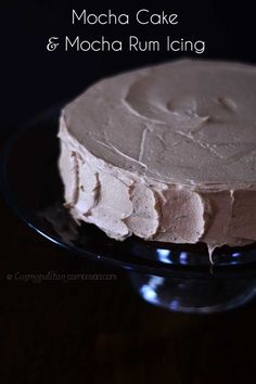 Rich Mocha Cake with Mocha Rum Icing - a Coffee Lover's Dream Cake! # ...