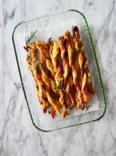 You can make Bacon Straws as a Thanksgiving appetizer with this easy recipe.