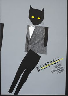 Advertising poster by Werner Jeker for Walpurgis Boutique, c. 1980