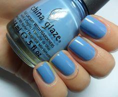 China Glaze - Electric Beat, a lovely soft blue!