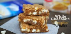 White chocolate pumpkin blondies  . . .KILLER!!!  These are amazing!