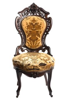 Rococo style side chair, mid-19th century Charleston Museum