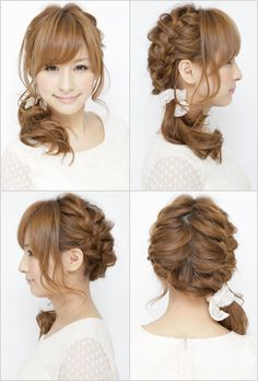 Two braids with bangs - Trunk V This is gorgeous but ik I nor my mom will ever have the patience for it