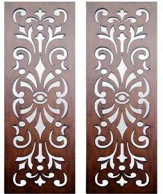 Interior Wall Art :: Timber Wall Art :: Set of 2 Kasbah Design Laser Cut Timber Art - Cnc Cutting Design, Laser Cutting, Stencil Patterns, Stencil Designs, Cnc Laser, Laser Cut Mdf, Jaali Design, Stencils, Laser Cut Panels