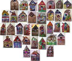 Cardboard bird houses