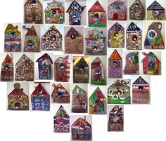 Love this my dad use to make bird houses and I painted them. This so reminds me of this