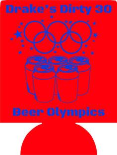 21st Birthday koozies beer olympics custom can coolers no minimums 1120527651