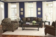 Get ready for a lifetime of comfort with the Bexley Rolled Arm Leather Sofa! Built with a Flexsteel blue spring w/ padded rolled arms, nailhead trim, & vintage styling. World Decor, Old World Style, Blue Springs, Nailhead Trim, Living Room Sets, Leather Sofa, Couch, Family Rooms, Plymouth