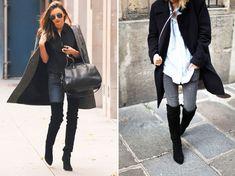 La paire de cuissarde est une des chaussures phares de la saison : plates, à talons, en daim ou cui...